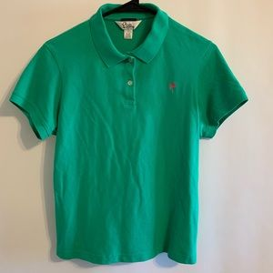 Lilly Pulitzer Vibrant Green Palm Tree Polo Shirt